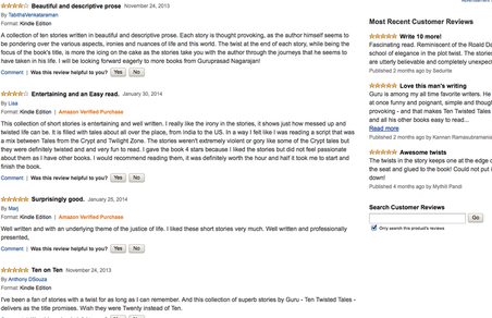 Ten Twisted Tales five star reviews